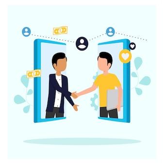 Gig economy gig worker concept en ligne
