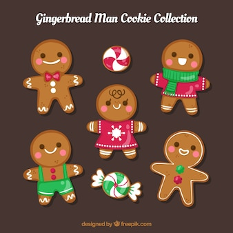 Gingerbread man cookie collection