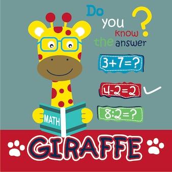Girafe l'enseignant