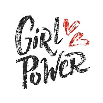 Girl power lettrage