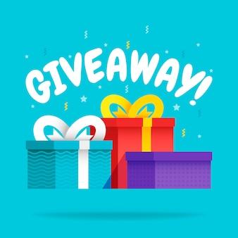 Giveaway for promo dans le réseau social