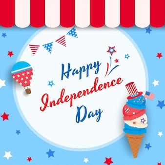 Glace fête de l'indépendance