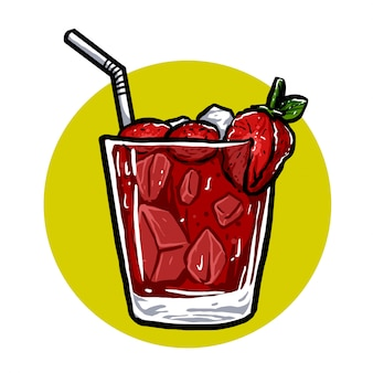 Glace à la fraise