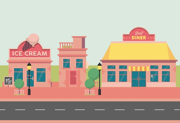 Glaces et diner street