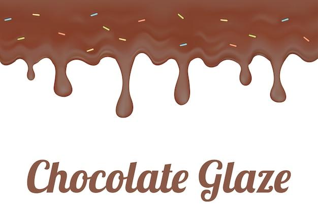 Une glaçure au chocolat et au beignet