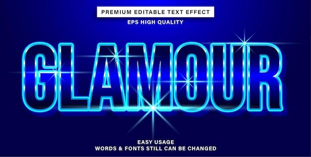 Glamour d'effet de texte modifiable
