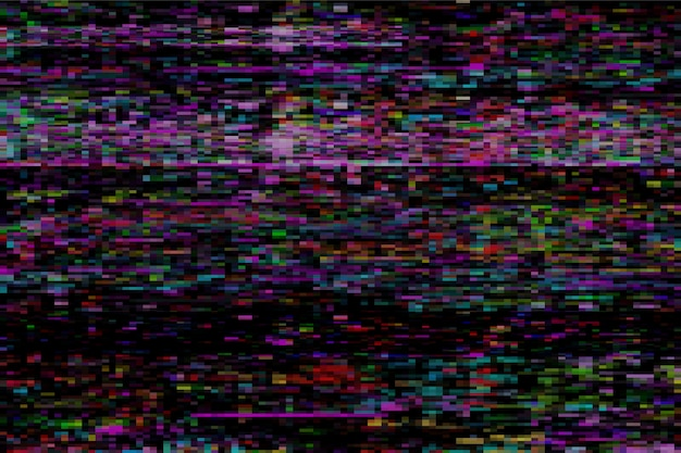 Glitch abstrait coloré