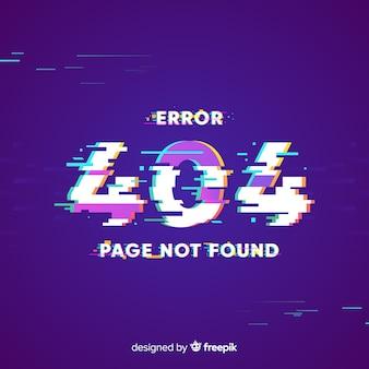 Glitch error 404 page