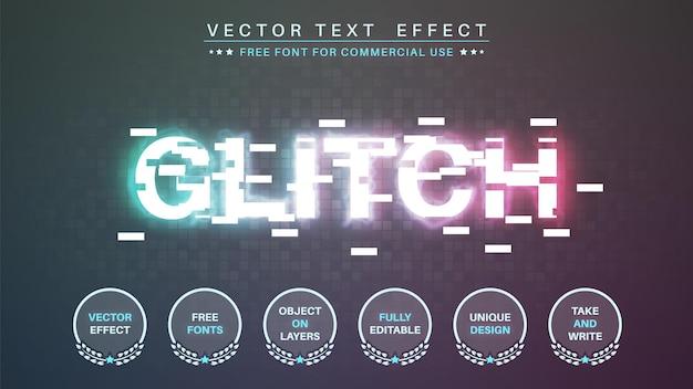 Glitch tv modifier le style de police d'effet de texte modifiable