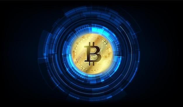 Global abstract bitcoin crypto monnaie blockchain technology world map