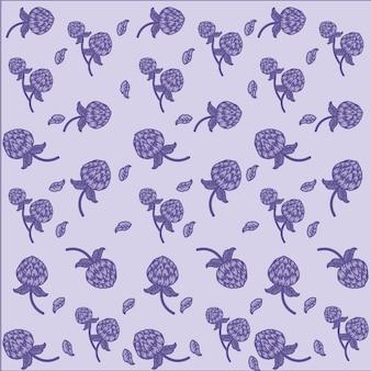 Globe amarante fleurs fond violet