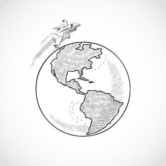 Globe d'avion icônes