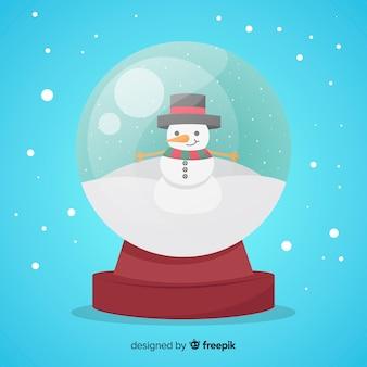 Globe boule de neige avec concept de noël