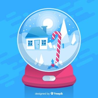 Globe boule de neige créatif avec un design de noël