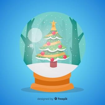 Globe boule de neige avec un design de noël