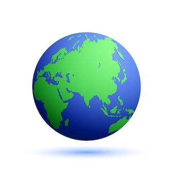 Globe avec carte du monde.