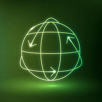 Globe icône vecteur symbole de conservation de l'environnement