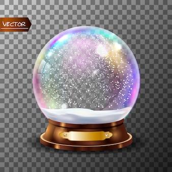 Globe de neige classique 3d.