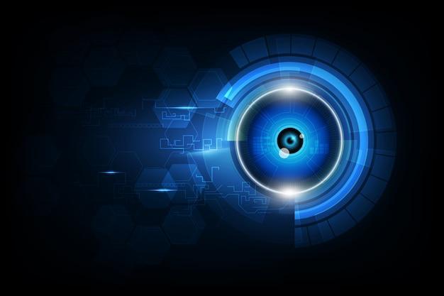 Globe oculaire technologie future, fond de sécurité