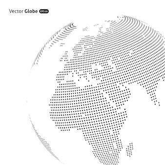 Globe en pointillé abstrait