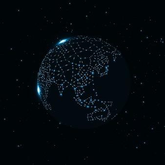 Globe de la technologie
