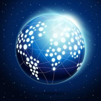 Globe terrestre abstrait