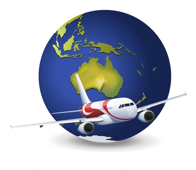 Globe terrestre et avion