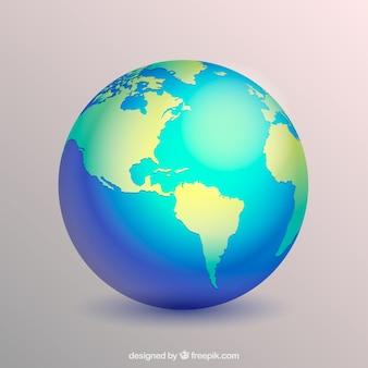 Globe terrestre décoratif dans un design réaliste