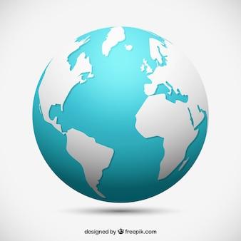 Globe terrestre décoratif