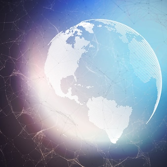 Globe terrestre sur fond sombre