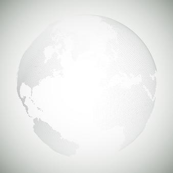 Globe terrestre en pointillé, illustration vectorielle de lumière design
