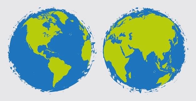 Globe terrestre en style grunge