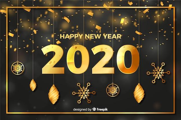 Globes et étoiles du nouvel an 2020