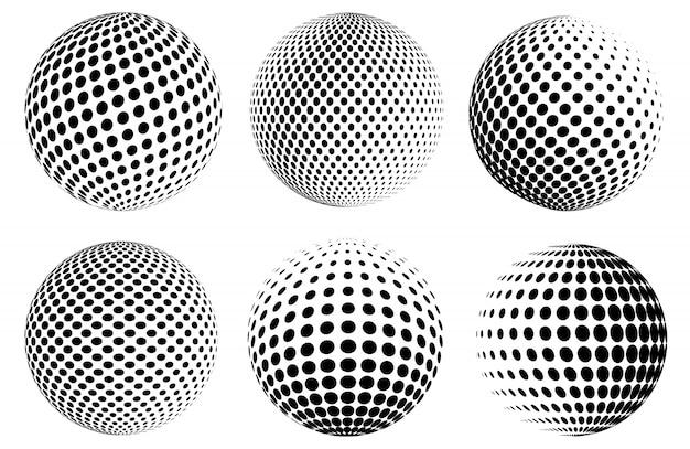 Globes à points en demi-teintes