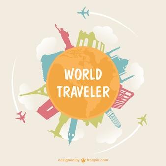 Globetrotter voyage concept illustration
