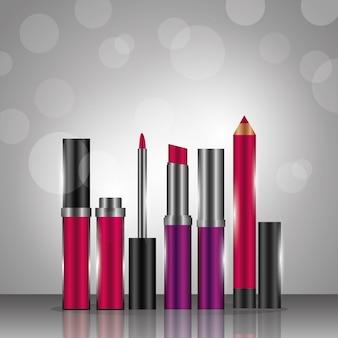 Gloss rouge à lèvres eyeliner cosmétiques