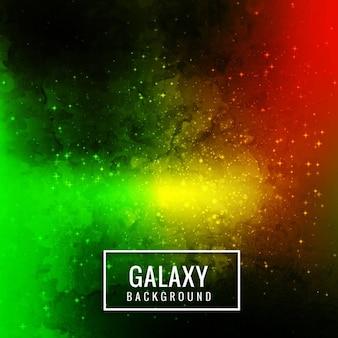 Glowing coloré galaxie fond