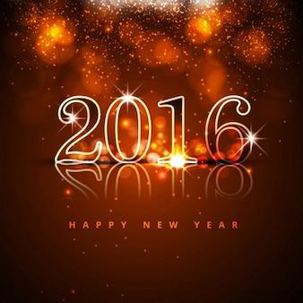 Glowing nouvelle année 2016 fond