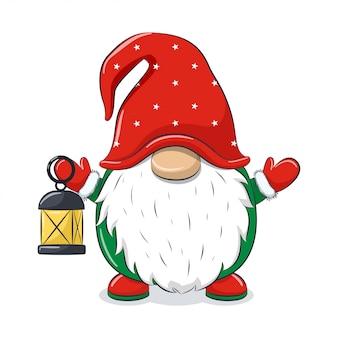Gnome gai mignon avec veilleuse.
