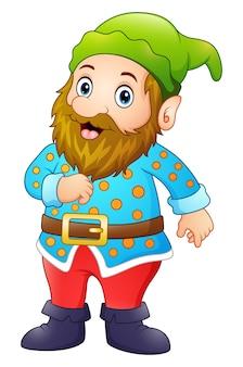 Gnome heureux de dessin animé