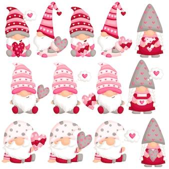 Gnome de la saint-valentin amoureux