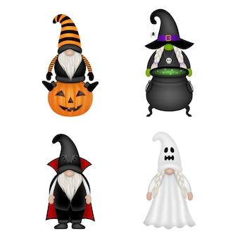 Gnomes drôles avec des costumes d'halloween