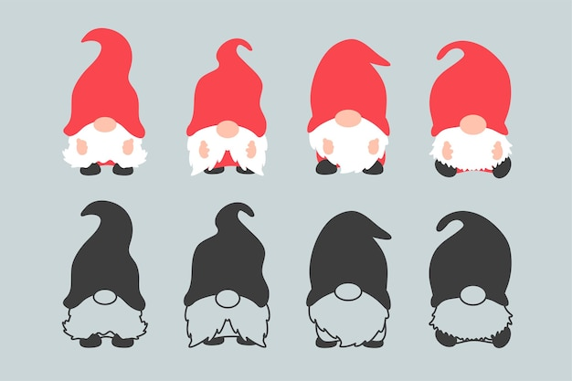 Les gnomes nains portent des chapeaux rouges.