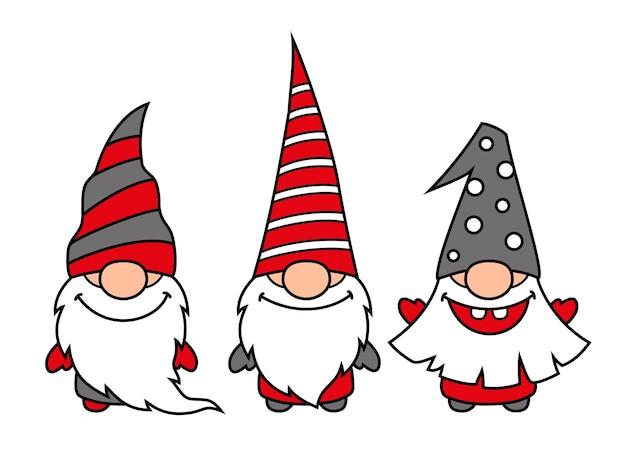 Gnomes de noël mignons