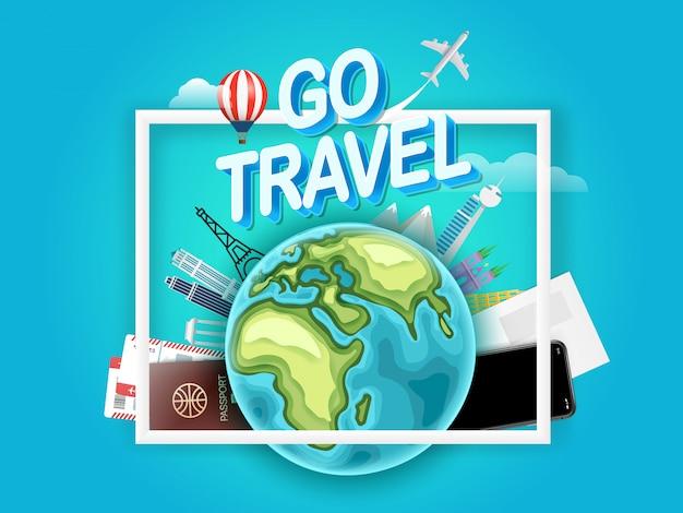 Go concept de voyage. illustration vectorielle