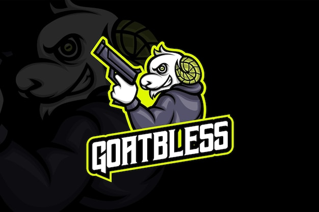 Goat bless - modèle de logo esport