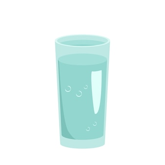 Gobelet en verre rempli d'ustensiles d'eau pour la cuisine un article pour cuisiner