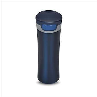 Gobelet de voyage thermos, tasse. gobelet de voyage thermos, tasse. illustration vectorielle