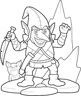 Gobelin de dessin animé