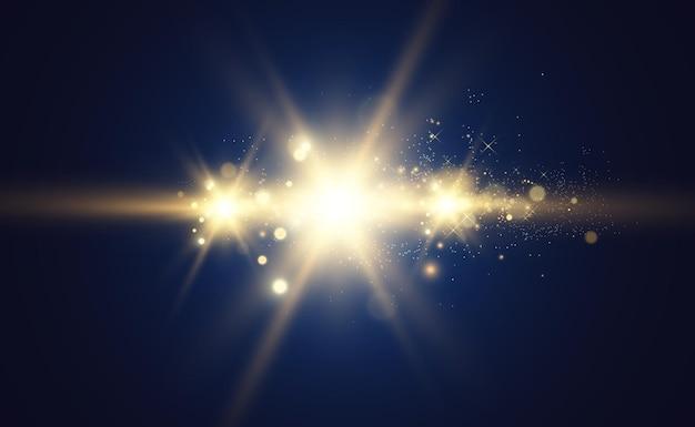 Gold sparkles, lumière vive.